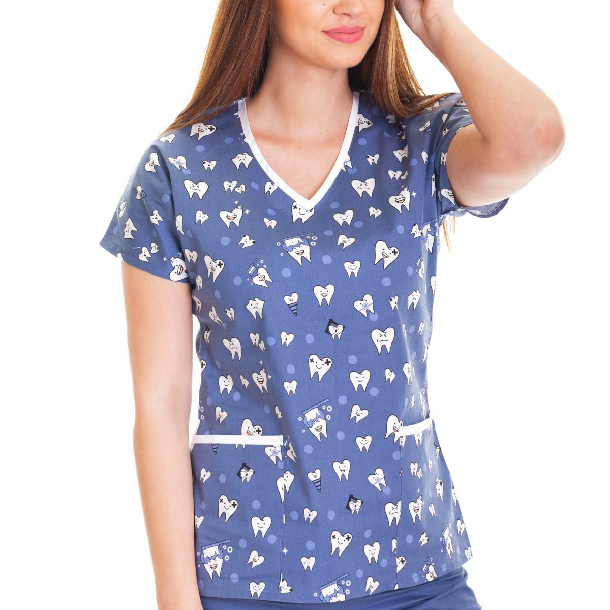 Bluza imprimata – Azure Hippie Butterflies