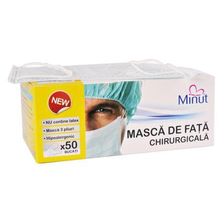 Masca de fata chirurgicala Minut 3 straturi – 50 buc/cutie