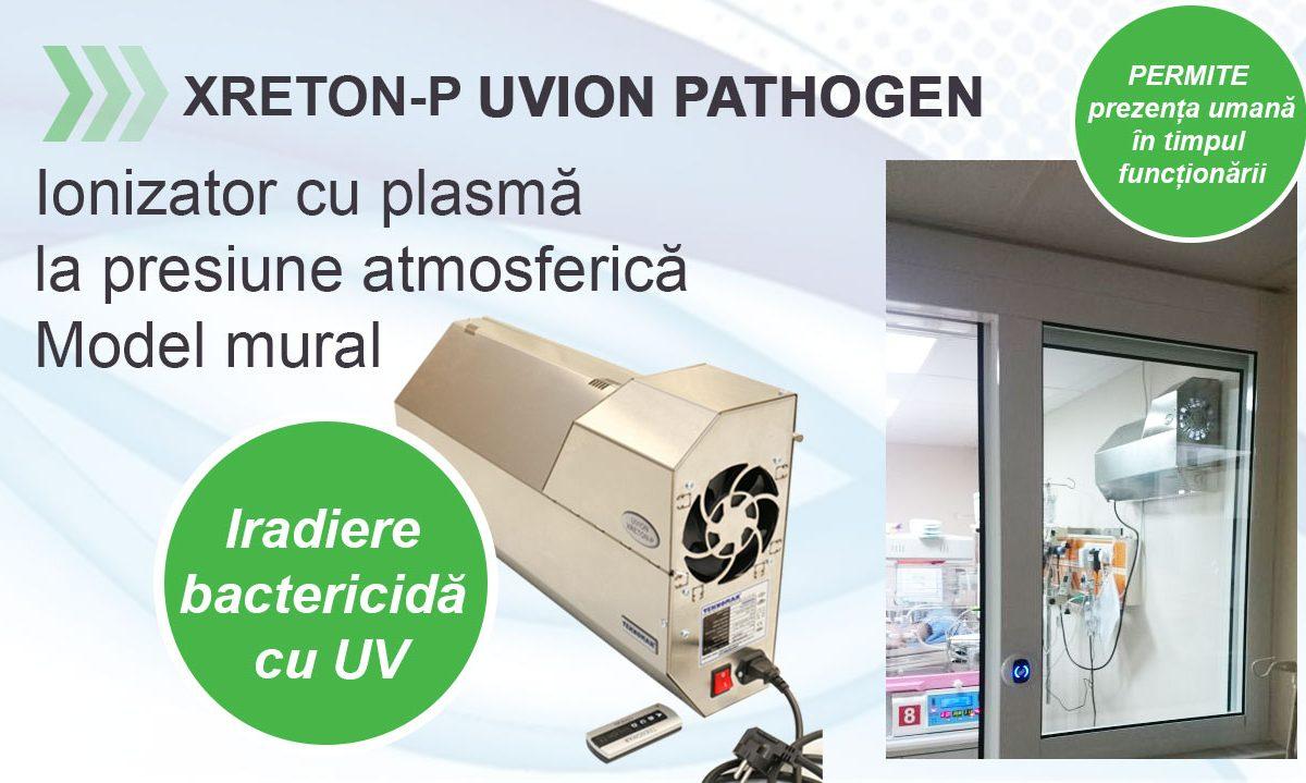 Dispozitiv profesional dezinfectare aer – Ionizator Xreton- P Uvion Pathogen